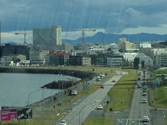 View of the waterfront in #Reykjavik from the Harpa Concert Hall.