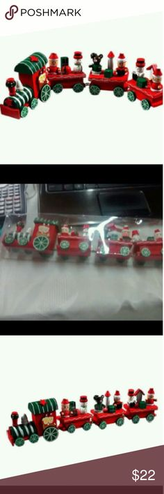 New Wood New  Year and Christmas Train Decor Gift Christmas Decoration Supplies indoor Other