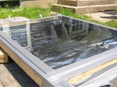 """Make a Solar Water Heater for Under $5 """"A word of warning, this panel works VERY WELL. We tested it on a very sunny day and within seconds the water coming out of the panel was hot enough TO SCALD. I burned my fingers."""""""