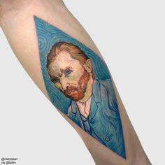 Savas Dogan @inktotalart - Istanbul Turkey ADAPTATION : Van Gogh self portrait, 1889. inktotalart@gmail.com