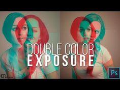 Double Color Exposure — Photoshop Tutorial - YouTube