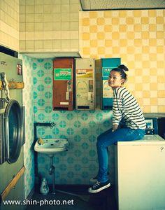 portrait,コインランドリーガール,coin laundry girl,girl's photo,model,モデル,作品撮り,photographer,堀内慎祐