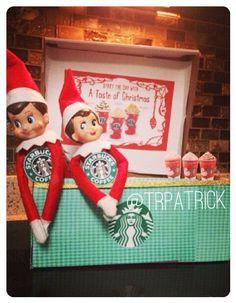 THE ELF ON THE SHELF~Starbucks anyone!? #hollyanddashp