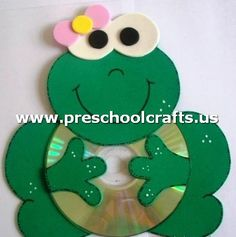 Fun Activities: Old CD Animal Crafts for Kids - Kids Art & Craft Kids Crafts, Frog Crafts, Animal Crafts For Kids, Art For Kids, Arts And Crafts, Kids Fun, Art N Craft, Craft Work, Recycled Cd Crafts