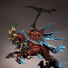 Red to blue Warhammer Armies, Warhammer 40k Figures, Warhammer Paint, Warhammer Models, Warhammer Fantasy, Warhammer 40000, Warhammer Aos, Vampire Counts, Best Cartoons Ever