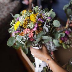 Dried Sage Bridal Bouquet by Aquarian Soul Sage/ Eucalyptus / Wildflowers Custom Made