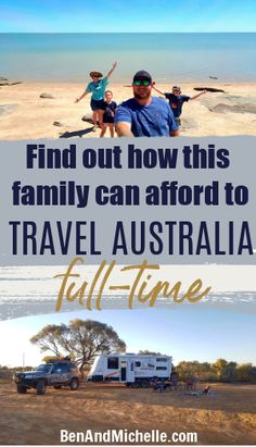 How does a family of four afford to travel around Australia full-time in their caravan? We interviewed the Rig family to find out what made them decide to hit the road, and how they're funding their travels. Caravanning Australia | Full time travel Australia | Caravan around Australia Travel Info, Time Travel, Us Travel, Family Travel, Travel Tips, Budget Travel, Living On The Road, Camping Spots, Plan Your Trip