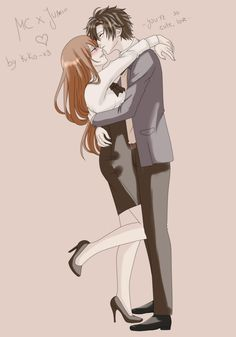 Even with high-heels MC is still so short compared to Jumin ♥♥
