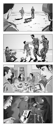 Storyboards by Cuong Huynh. Animation Storyboard, Storyboard Artist, Film Composition, Storyboard Template, Comic Art, Comic Books, Color Script, Drawing Sketches, Drawings