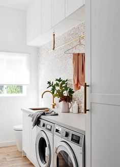 Large Laundry Rooms, Small Laundry, Home Interior, Bathroom Interior, Hall Bathroom, Basement Bathroom, Laundry Bathroom Combo, European Laundry, Boho Home