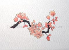 Cherry Blossom - Thinking something along these lines for my foot tattoo.