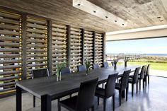 FAB dining room + unique #wine storage
