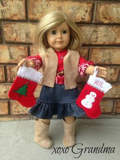 xoxo Grandma: Felt Christmas Stockings for your Doll