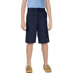 Genuine Dickies Boys Shorts with Multi Use Pocket, Size: 16, Blue