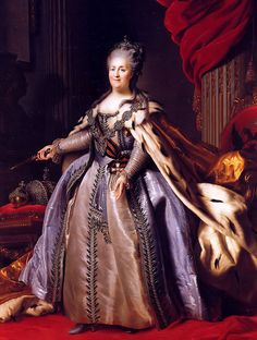 """Imperatriz Catarina II"".           (by Fyodor Rokotov). Museu Hermitage.        # São Petersburgo, Rússia."