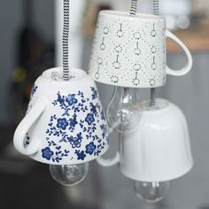 How to make your own teacup lamp. Lighting can be a major game changer in any space. And now that IKEA has started making such pretty chords, we figure you can pretty much make a lamp out of anything. First up for us: a porcelain teacup.