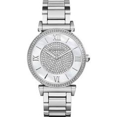 Michael Kors Women's MK3355 'Catlin' Crystal Stainless Steel Watch | Overstock.com Shopping - The Best Deals on Michael Kors Women's Watches