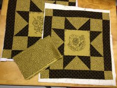 2 Embroidered Vintage Quilt Blocks with by KoopsKountryKalico, $20.00