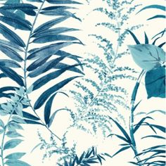 Breezy shades of blue palm leaves create an organic tropical oasis wallpaper design. This wallpaper by York is coastal chic master bedroom goals. Wallpaper design that brings an elegant coastal chic vibe to your kitchen. Leaves Wallpaper Iphone, Palm Leaf Wallpaper, Tropical Wallpaper, Botanical Wallpaper, Beach Wallpaper, Wallpaper Roll, Pattern Wallpaper, Kitchen Wallpaper, Transitional Wallpaper