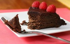 Warm Chocolate Raspberry Pudding Cake | Dainty Chef