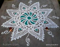 Beautiful Kolam! If you want to learn drawing that, come at SITA's Cultural Center!