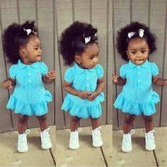 ❤Q U E E N❤ Cute Black Babies, Beautiful Black Babies, Cute Little Baby, Pretty Baby, Cute Baby Girl, Beautiful Children, Little Babies, Cute Babies, Brown Babies