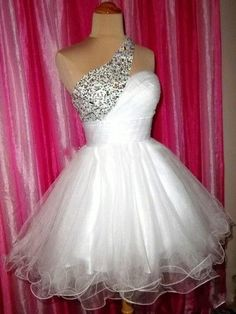 Hd60801 High Quality Homecoming Dress,Beading Homecoming Dress,One-Shoulder Graduation Dress,Tulle Short Prom Dress
