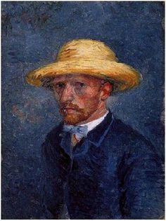 Autorretrato com chapéu de palha- Paris (janeiro-março de 1887)