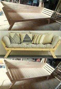 Fantstic Wooden Pallets Sofa Ideas #sofaideaswooden #woodenpalletprojects