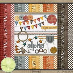Digital Scrapbooking - Howdy Kit - #digitalscrapbooking #dandeliondustdesigns