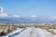 A drive on a cold December day behind the Adobes in Delta. Colorado.