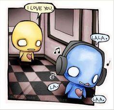 words - music - love - emo toon