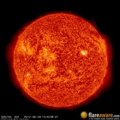 The hourly sun (at 03:45 pm  UTC on  9 June 2013)
