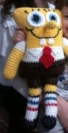 Bob esponja amigurumi crochet