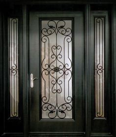 an exquisite and stylish decorative wrought iron front door insert collection that will satisfy the taste