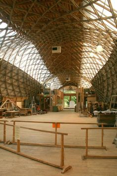 The main hall. Photo by CABE, Weald and Downland Gridshell | Case studies | CABE