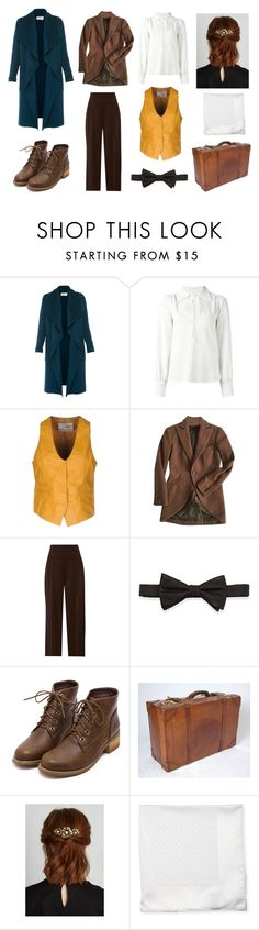"""""""Newt Scamander Inspired Outfit"""" by accio-hogwarts-81 ❤ liked on Polyvore featuring L.K.Bennett, See by Chloé, VINTAGE DE LUXE, Ralph Lauren Black Label, 3.1 Phillip Lim, Neiman Marcus and Salvatore Ferragamo"""