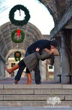 winter engagement photos | Boston Common | Laura Evancich photography