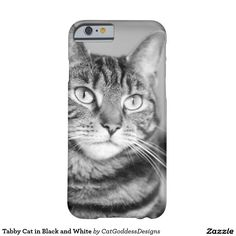 Tabby Cat in Black and White Barely There Case Iphone6, Store Design, Iphone Case Covers, Cat Lovers, Kitty, Black And White, Cats, Little Kitty, Gatos