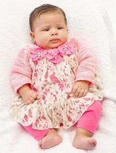 84244905cb ADORABLE Peaches n Cream Pink Lace Jewel Flower Sweater Leggings Set Girls ( sz 0-6x) ~Color Me Happy Boutique  Fall