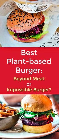 Best Plant-based Burger - Beyond Meat or Impossible Burger? - Beyond Meat Burger and Impossible Burger have redefined what a veggie burger is because they both give the same texture and consistency of real organic beef. While they may be similar in concept, they differ in taste, texture, smell, and price. Let us look at what they are made of and how they compare against one another. #plantbasedburger #plantbaseddiet #veggieburger #plantbasedfood #vegandiet Plant Based Diet, Plant Based Recipes, Vegetable Recipes, Delicious Vegan Recipes, Healthy Recipes, Tasty, Dairy Free Recipes, Real Food Recipes, Meal Plan Printable