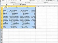 how to find regression model in excel