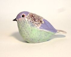 pottery bird sculpture SALE. $35.00, via Etsy.