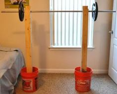 8 Wooden DIY Squat Rack Plans And Cheap Garage Gym Ideas - squat gym Home Made Gym, Diy Home Gym, Diy Gym Equipment, No Equipment Workout, Workout Gear, Homemade Workout Equipment, House Workout, Squat Workout, Workout Outfits