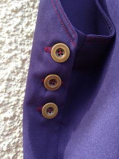 Hannah Jane Fellows Dungaree dress buttonholes