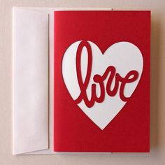 Love Card Paper Cutting by all things paper, via Flickr