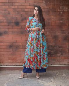 """542 Likes, 13 Comments - GulaboJaipur (@gulabo_jaipur) on Instagram: """"Floral georgette kurta cotton pajama ON SPECIAL PRICE FOR TODAY Diwali delights by @gulabo_jaipur…"""""""