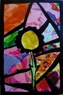 Art. Paper. Scissors. Glue!: Stained Glass