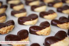 Palmeritas de hojaldre con chocolate