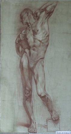 академический рисунок. мужская обнаженка